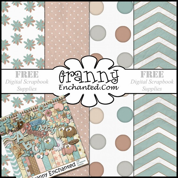 Granny Enchanteds Blog Free Baby Digital Scrapbook Paper Pack