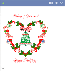 Merry Christmas and Happy New Year 2015 Facebook sticker