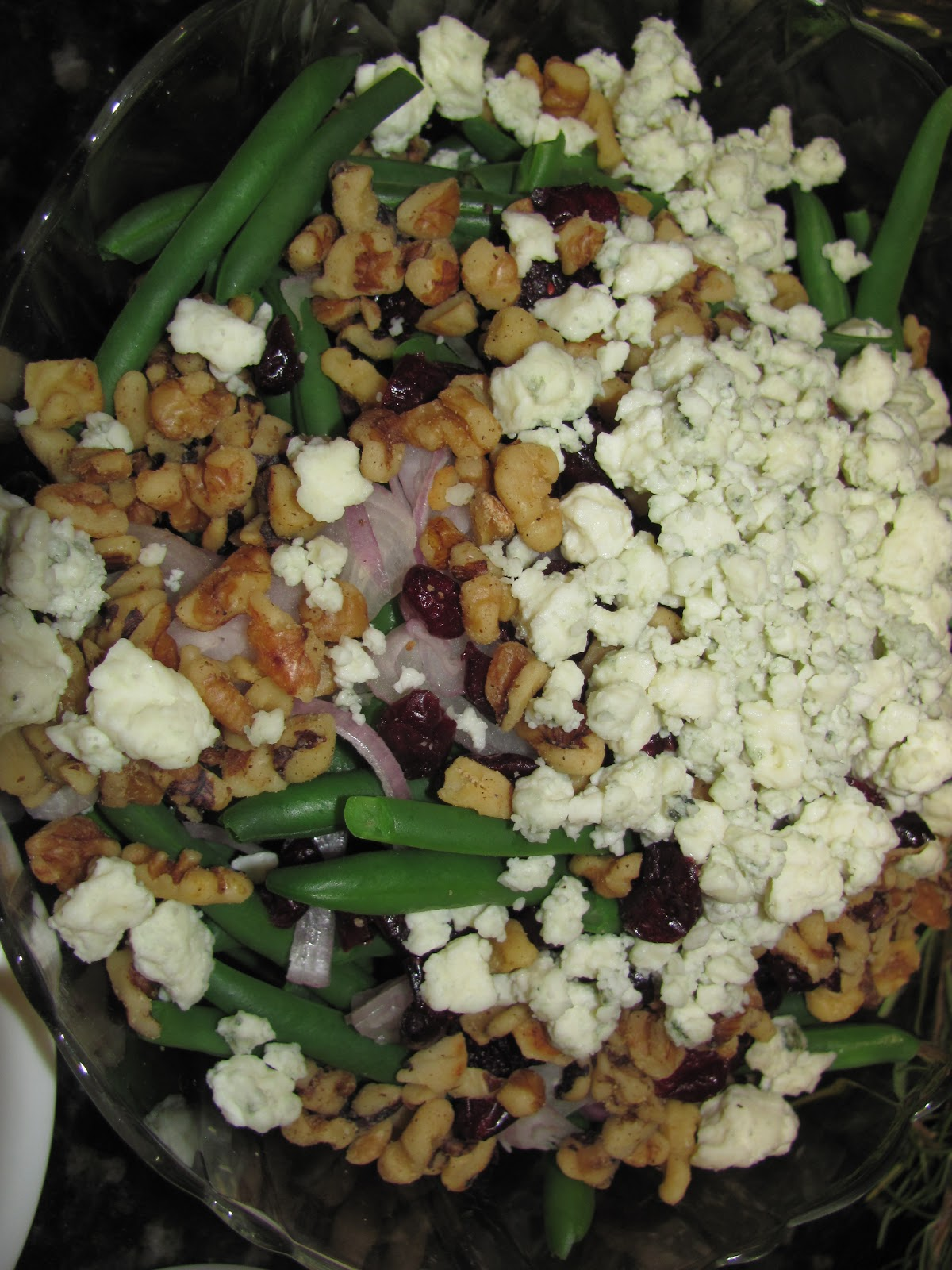 For the Love of Food: Walnut and Blue Cheese Green Bean Salad