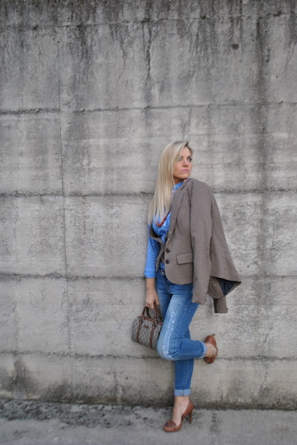 outfit giacca in principe di galles come abbinare la stampa principe di galles cosa è il principe di galles principe di galles storia mariafelicia magno fashion blogger colorblock by felym outfit novembre 2015 outfit autunnali outfit invernali how to wear prince of wales print blazer how to combine wales of wales print  how to wear blazer fashion bloggers italy fall outfit