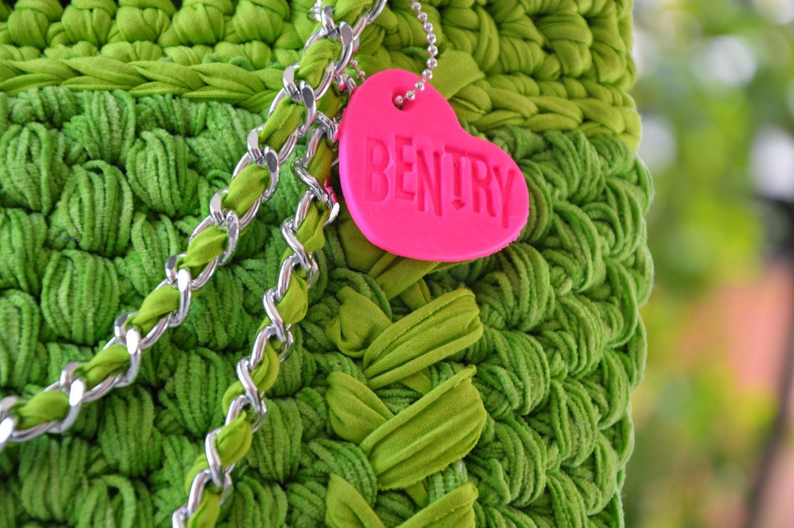 Borsa lycra verde intermezzo ciniglia di filo di Scozia verde