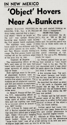 'Object' Hovers Near A-Bunkers - Abilene Reporter-News, The 11-5-1957