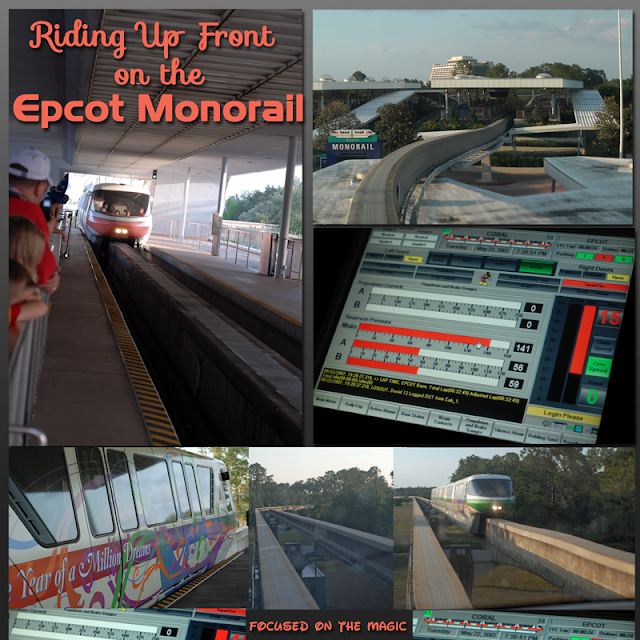 Riding Up Front on the Epcot Monorail