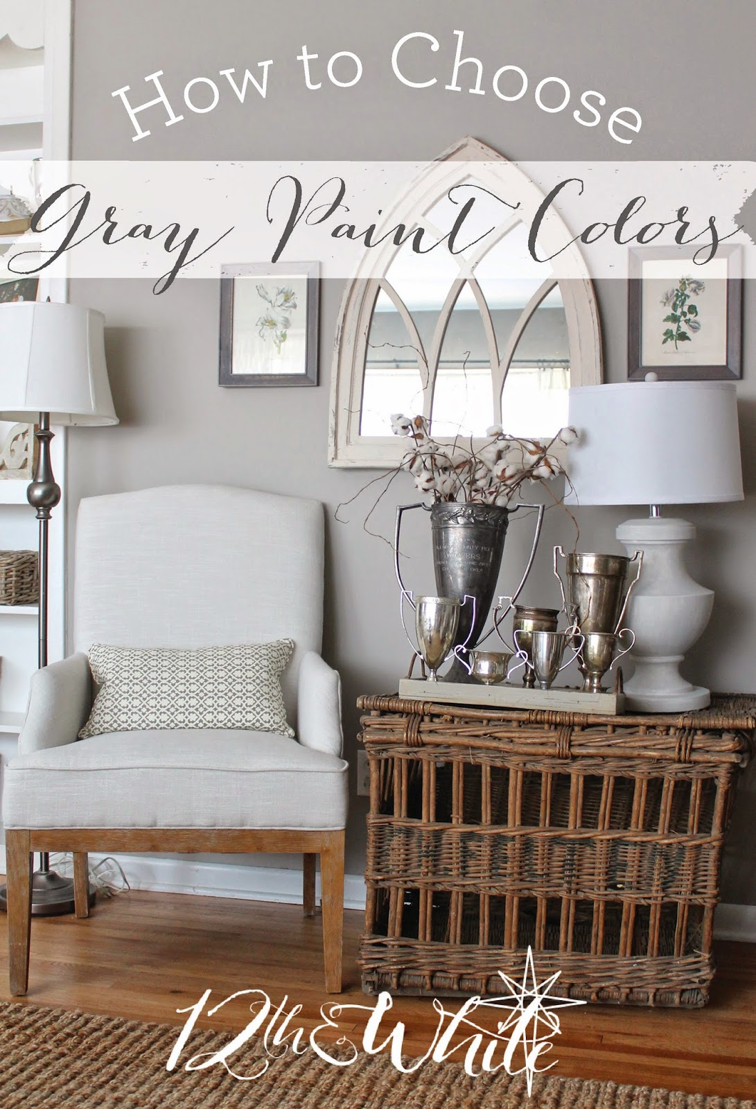 we have five different gray colors in our home - Gray Home 2015