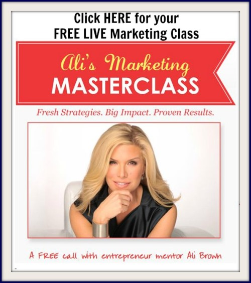 FREE Live Ali Brown Marketing Masterclass