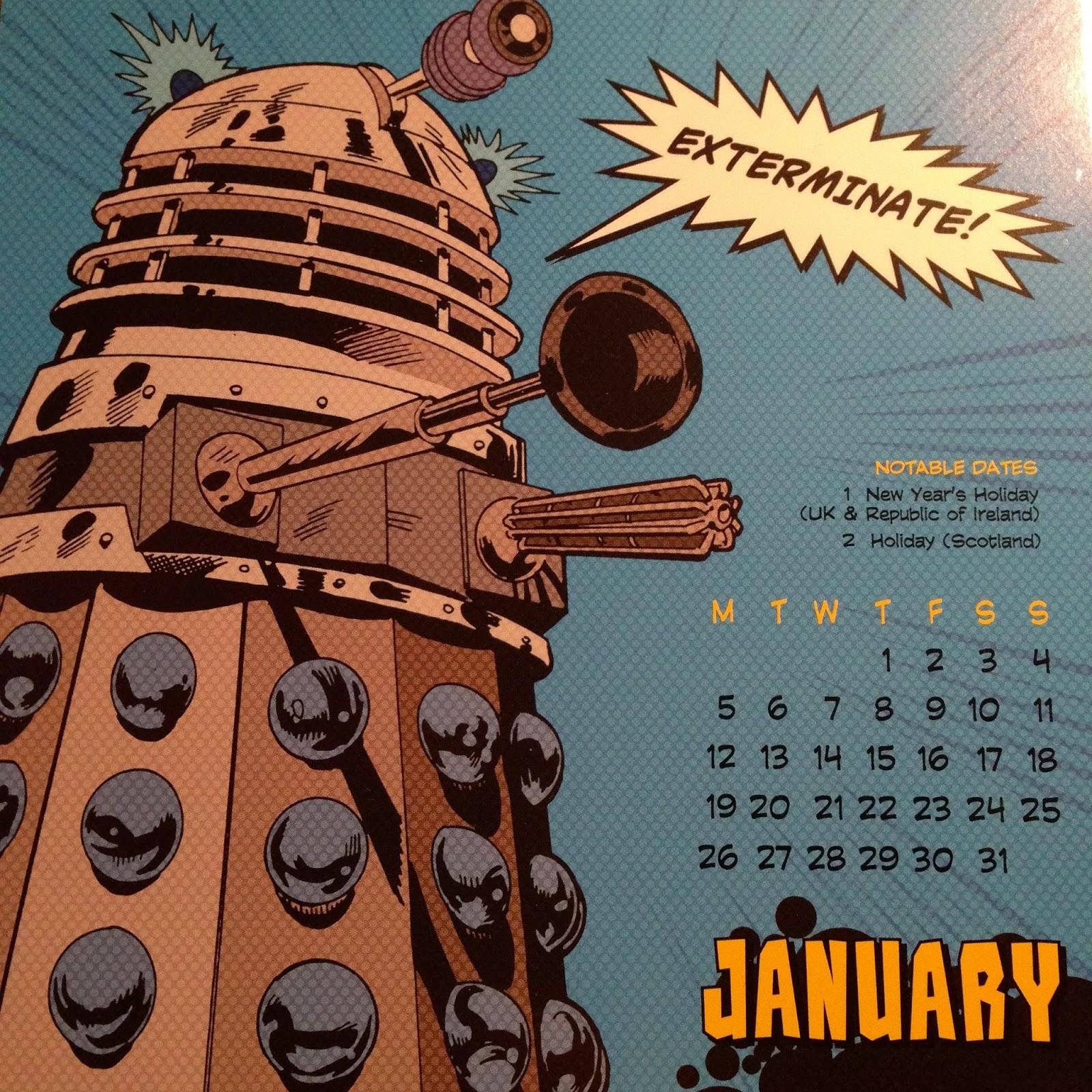 Doctor Who Desk Calendar 2015 January