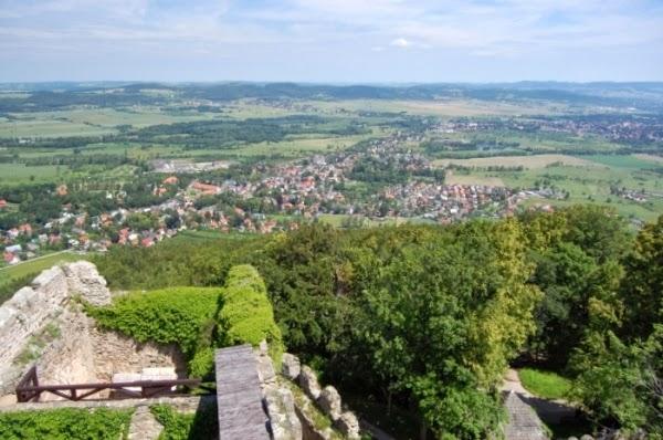 Panorama z wieży Zamku Chojnik