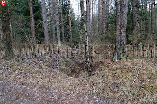 Фундамент комендатуры на Советско-польской границе