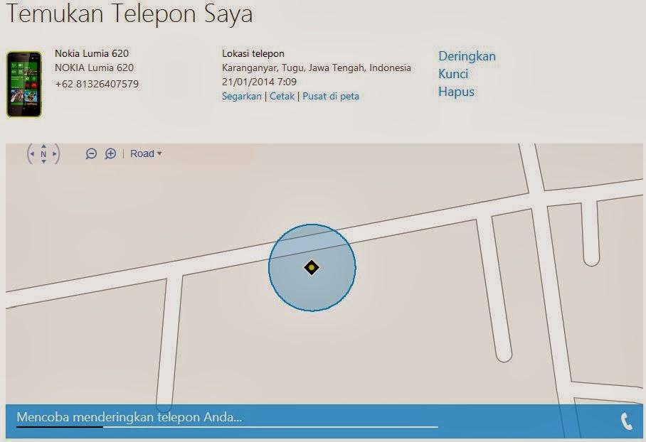Menemukan Windows Phone yang hilang