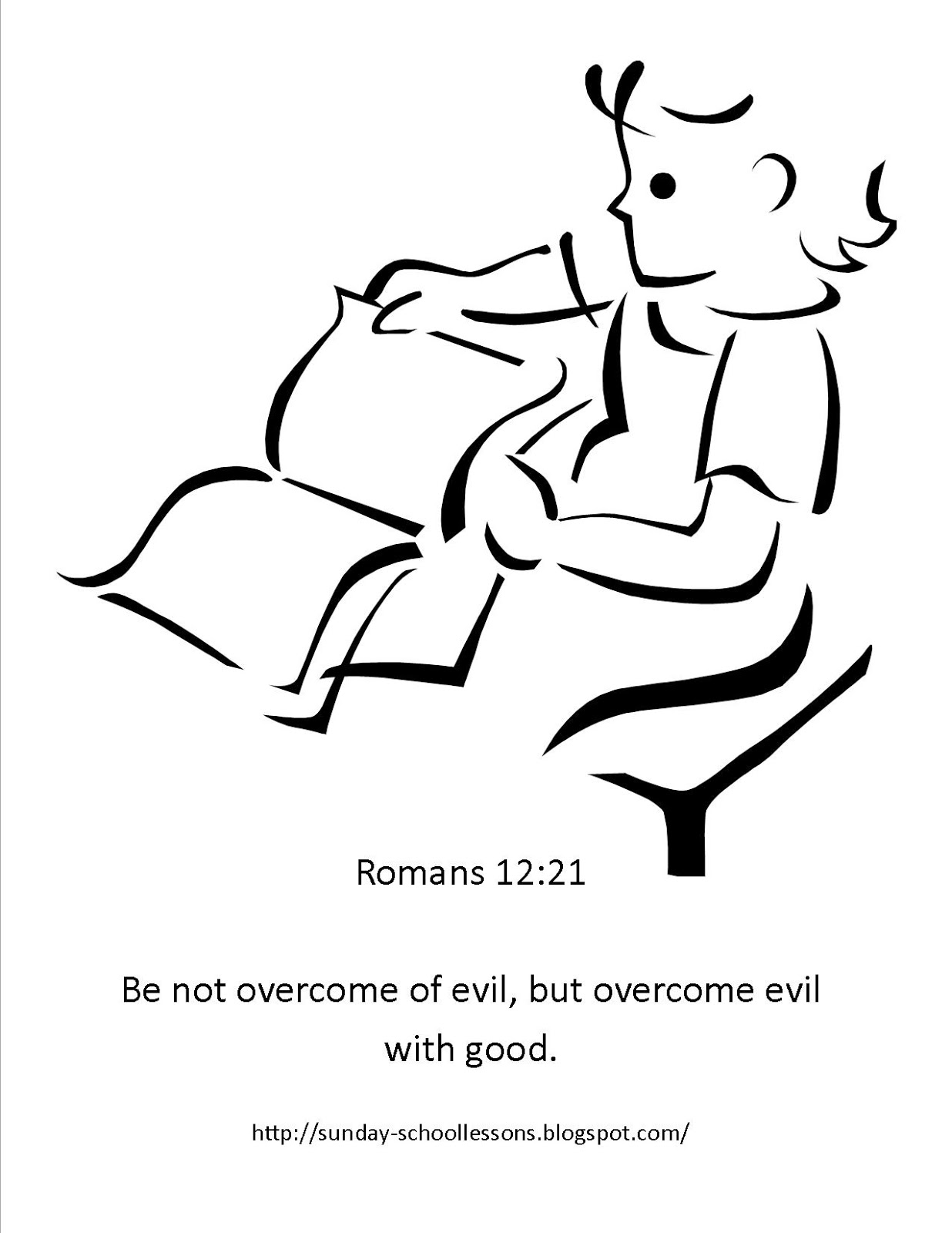 sunday school coloring page - Romans 5 8 Coloring Page