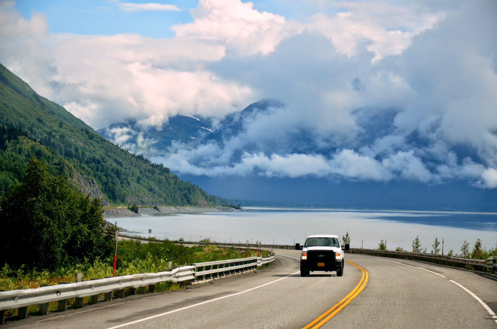 Driving South from Anchorage to Homer, Alaska