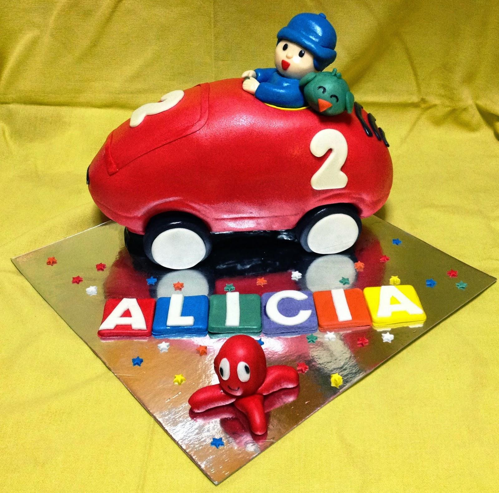tarta pocoyo; tarta coche pocoyo; tarta decorada pocoyo
