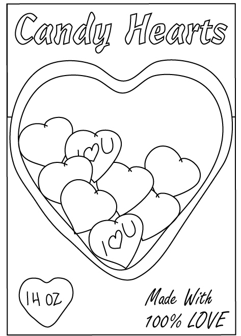 valentines heart coloring pages - photo#39