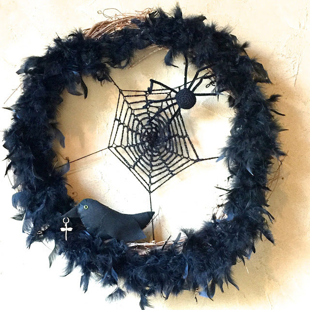 Halloween Grapevine Wreath