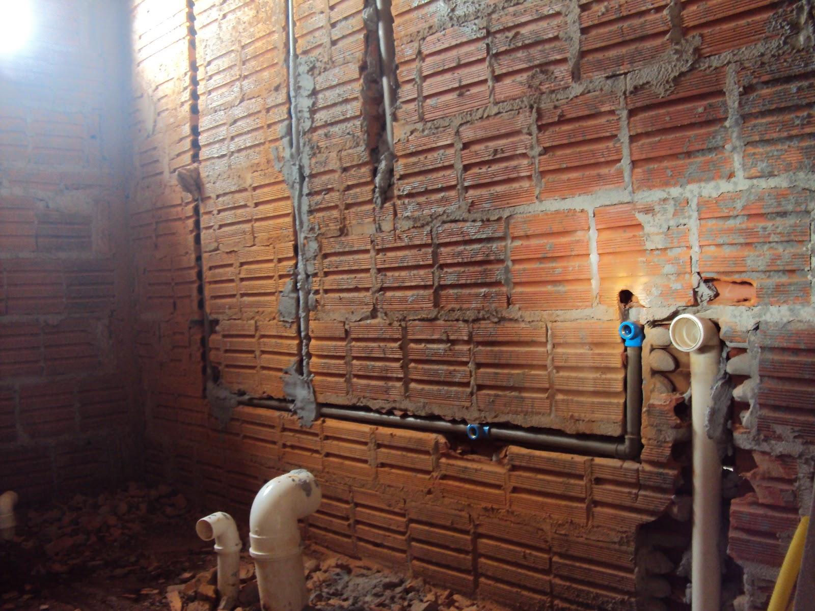Construindo encanamentos do BANHEIRO -> Encanamento De Banheiro Com Banheira