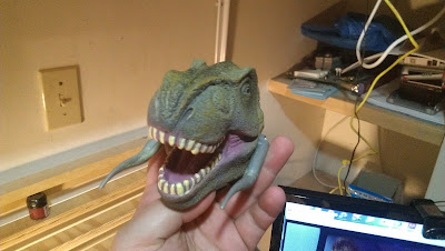 T-rex head converted to be an Ork Gargantuan Squiggoth head