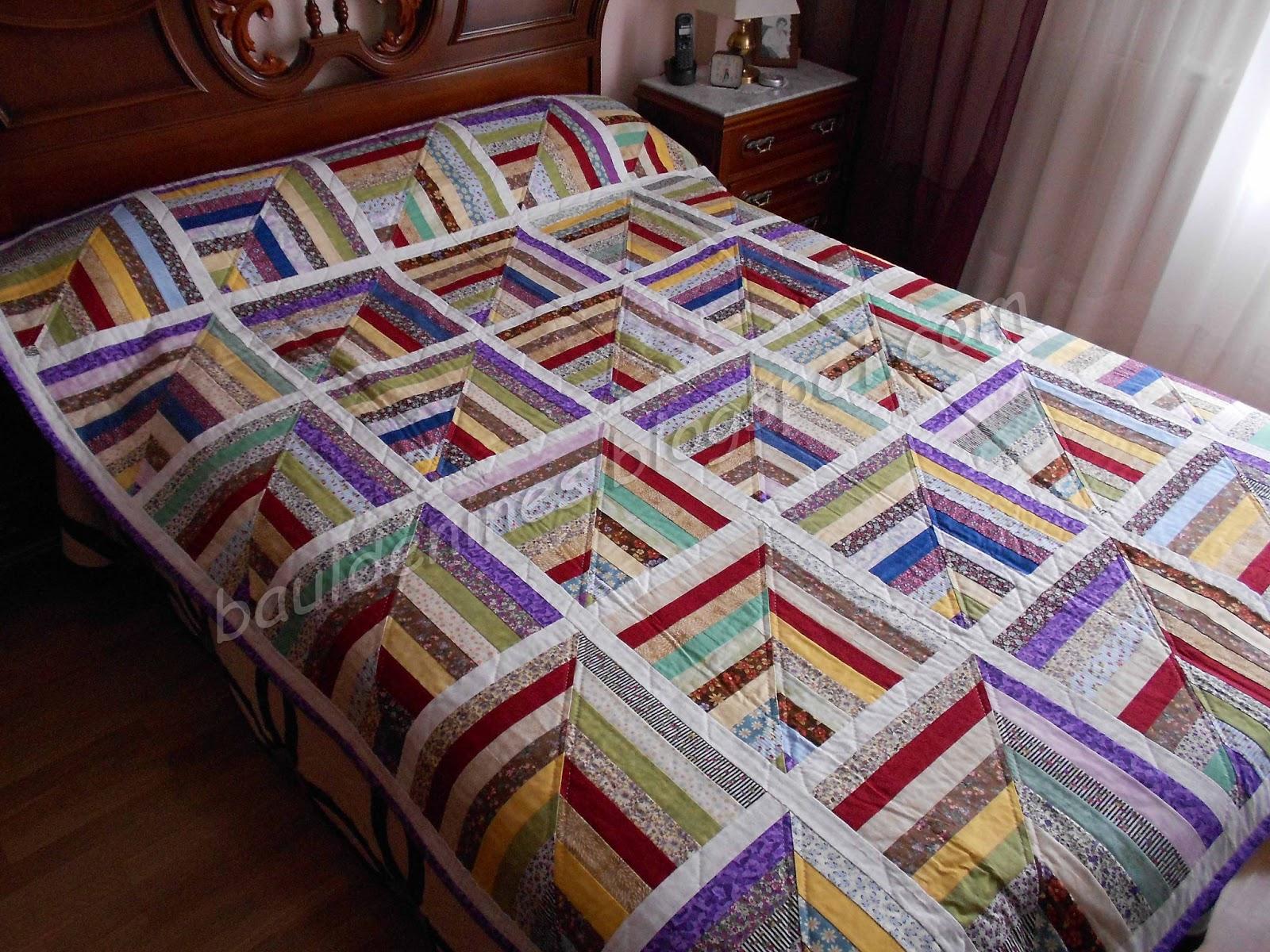 Ba l de nines patchwork colcha tiras patchwork - Colchas de patchwork hechas a mano ...