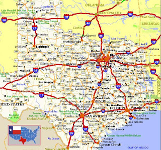 Map of Dallas in Texas