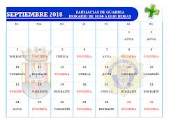 FARMACIAS SEPTIEMBRE 2018