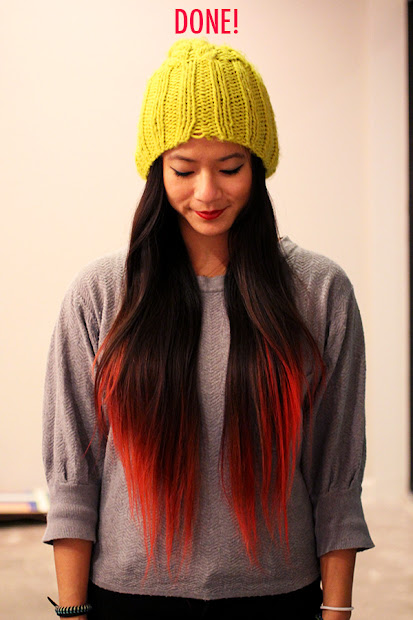 diy dip dye koolaid hair tutorial