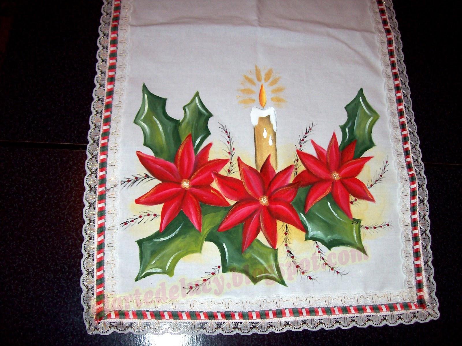 El arte de lucy arte tambien en navidad - Pintura en tela motivos navidenos ...