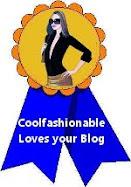 """Premio de reconocimiento por """"Coolfashionable"""""""