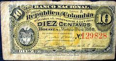 El  billete colombiano más pequeño en su historia