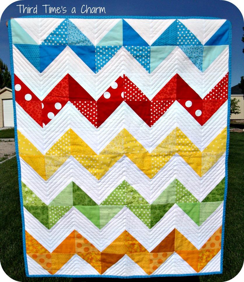 Zig Zag Love Quilt Pattern : Third Time s a Charm: Zig Zag Quilt
