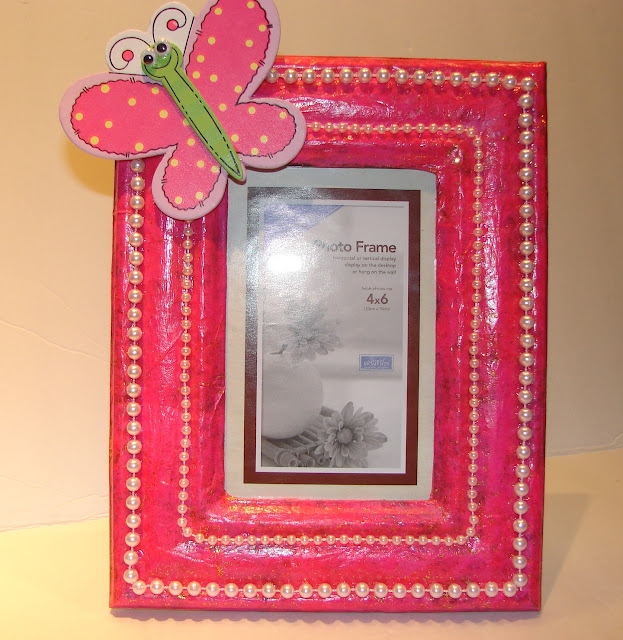 Keepsake Picture Frame #decoupage #ModPodge #craft #giftidea