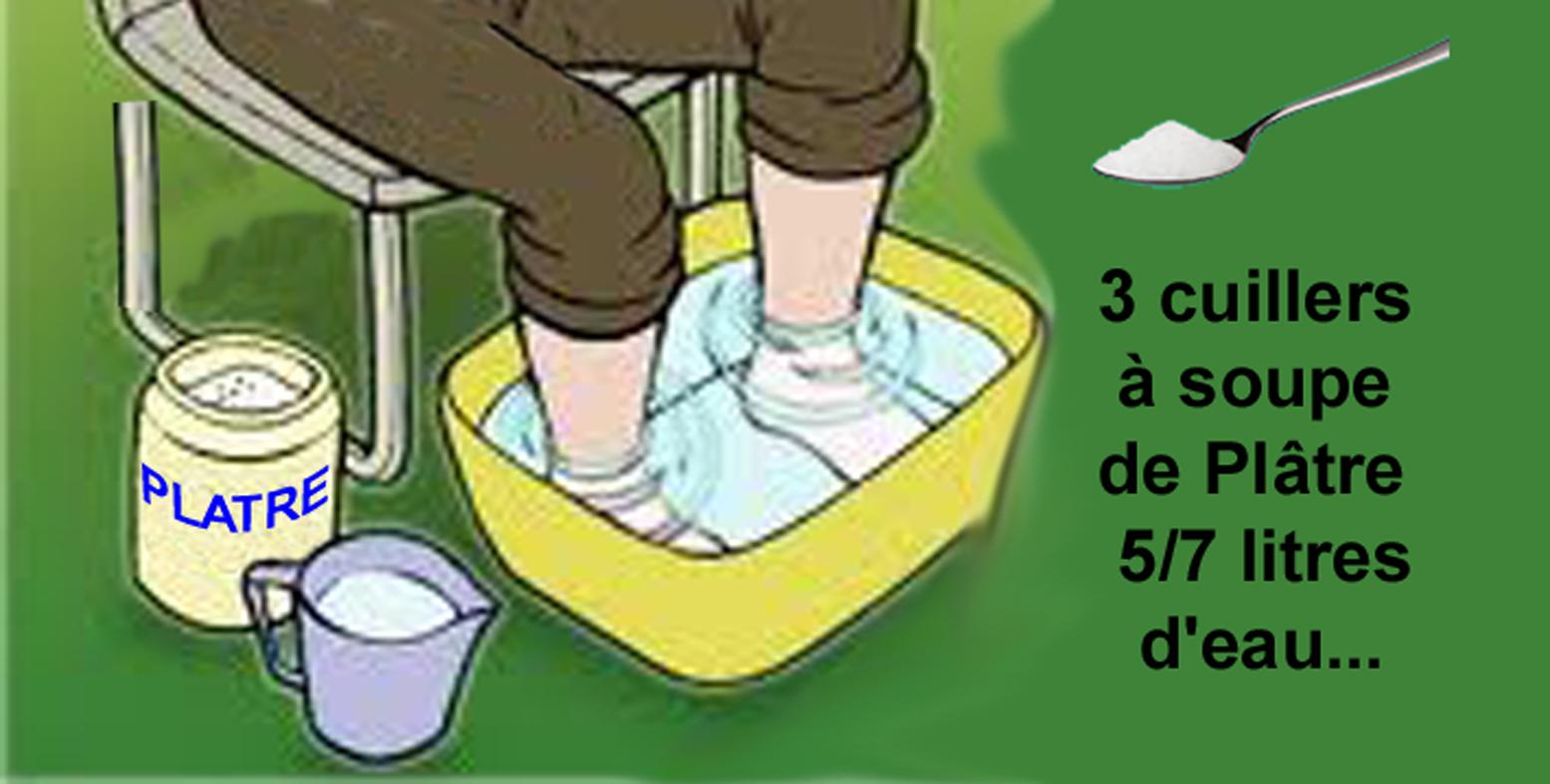 Innovation sant bain de pieds au pl tre - Que faire avec du platre ...