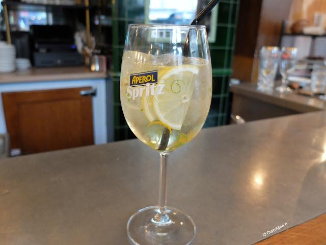 cocktail elderflower spritz du Centreville, Restaurant à Paris 11ème  charonne Keller