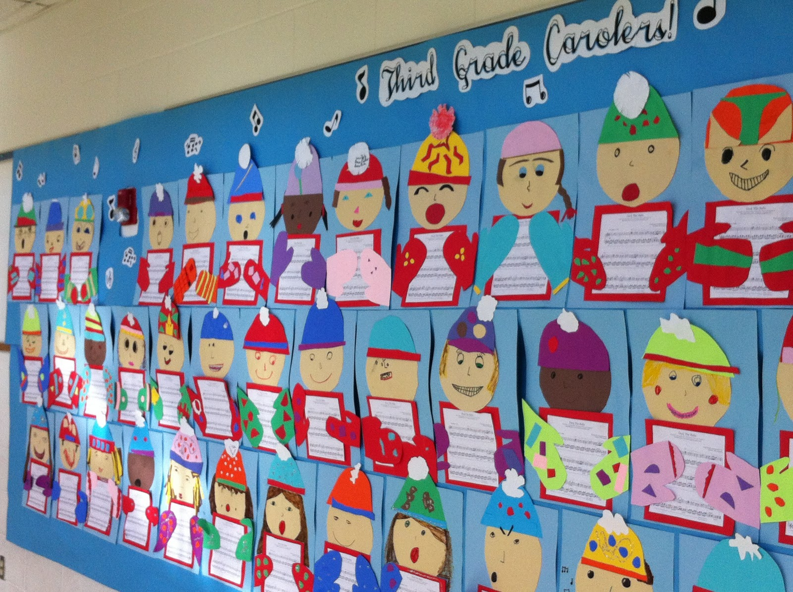 Apex elementary art 3rd grade carolers for 3rd grade christmas craft ideas