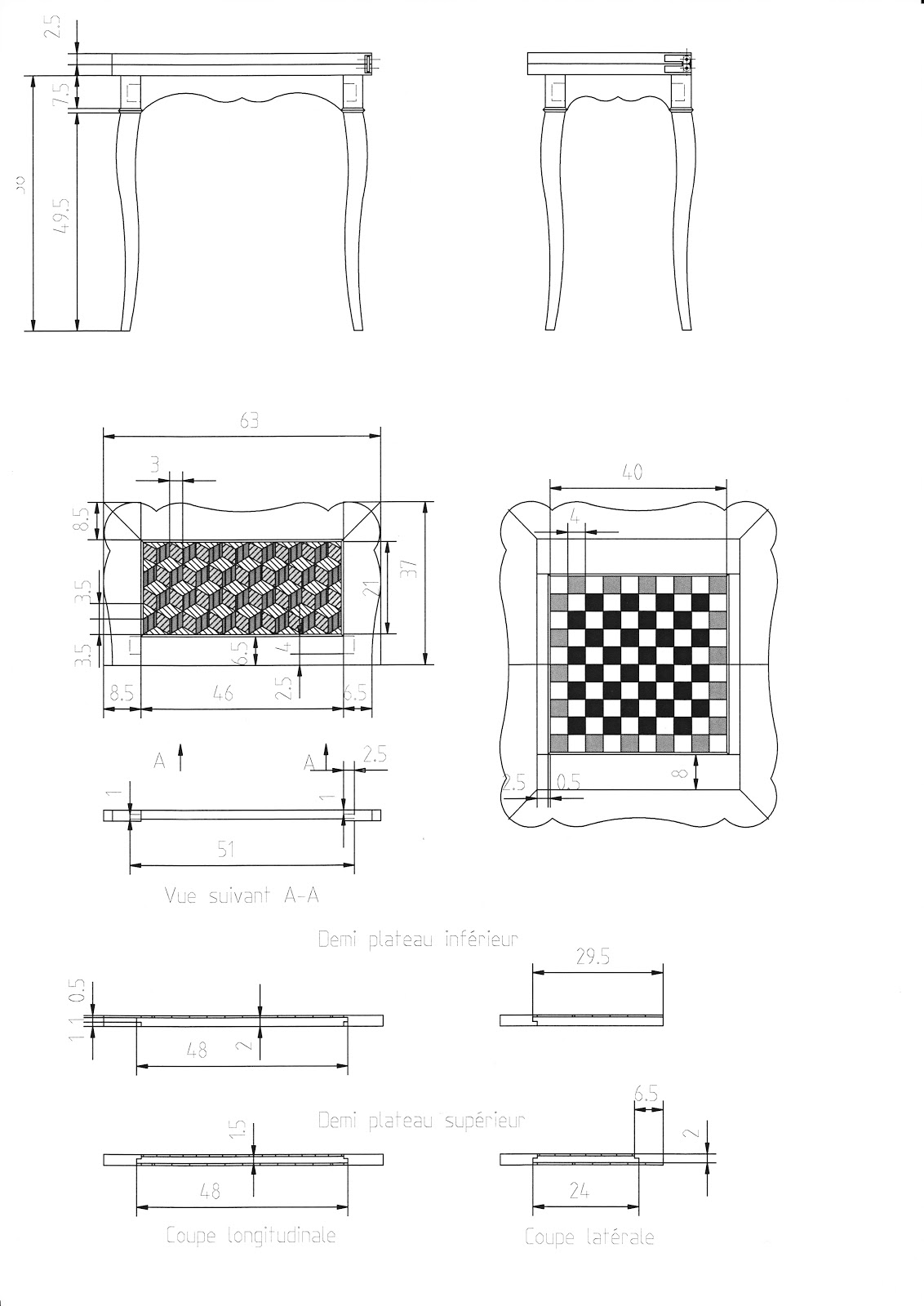 Meubles Miniatures Nouveau projet  Préparation des plans -> Plan Des Meubles