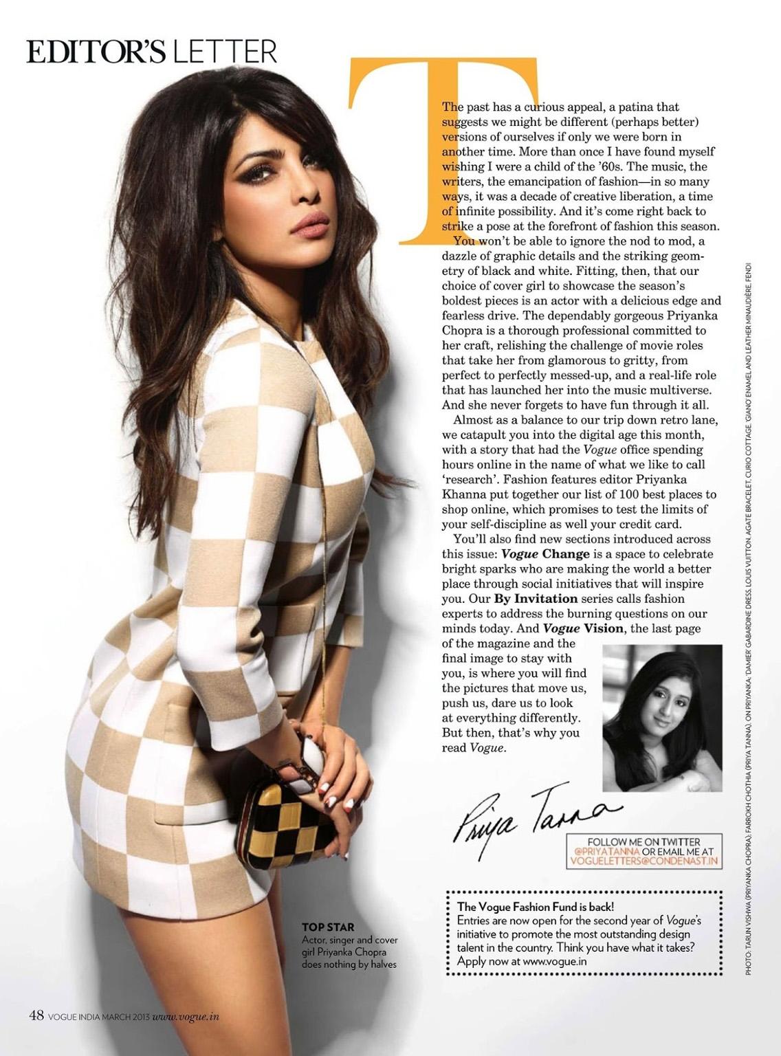 Priyanka Chopra 2013 Magazine