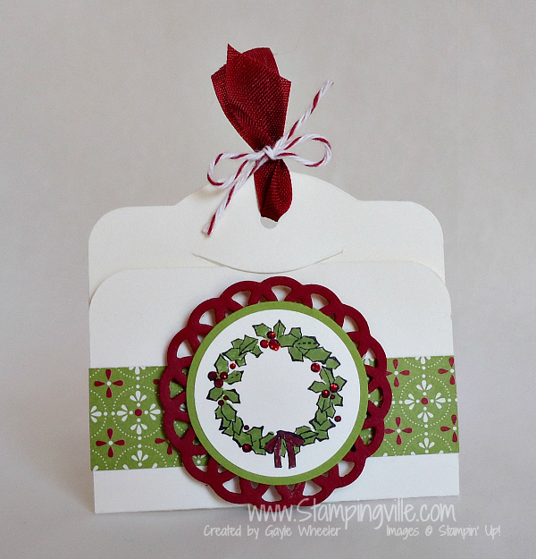 Watercolored Wreath Gift Tag