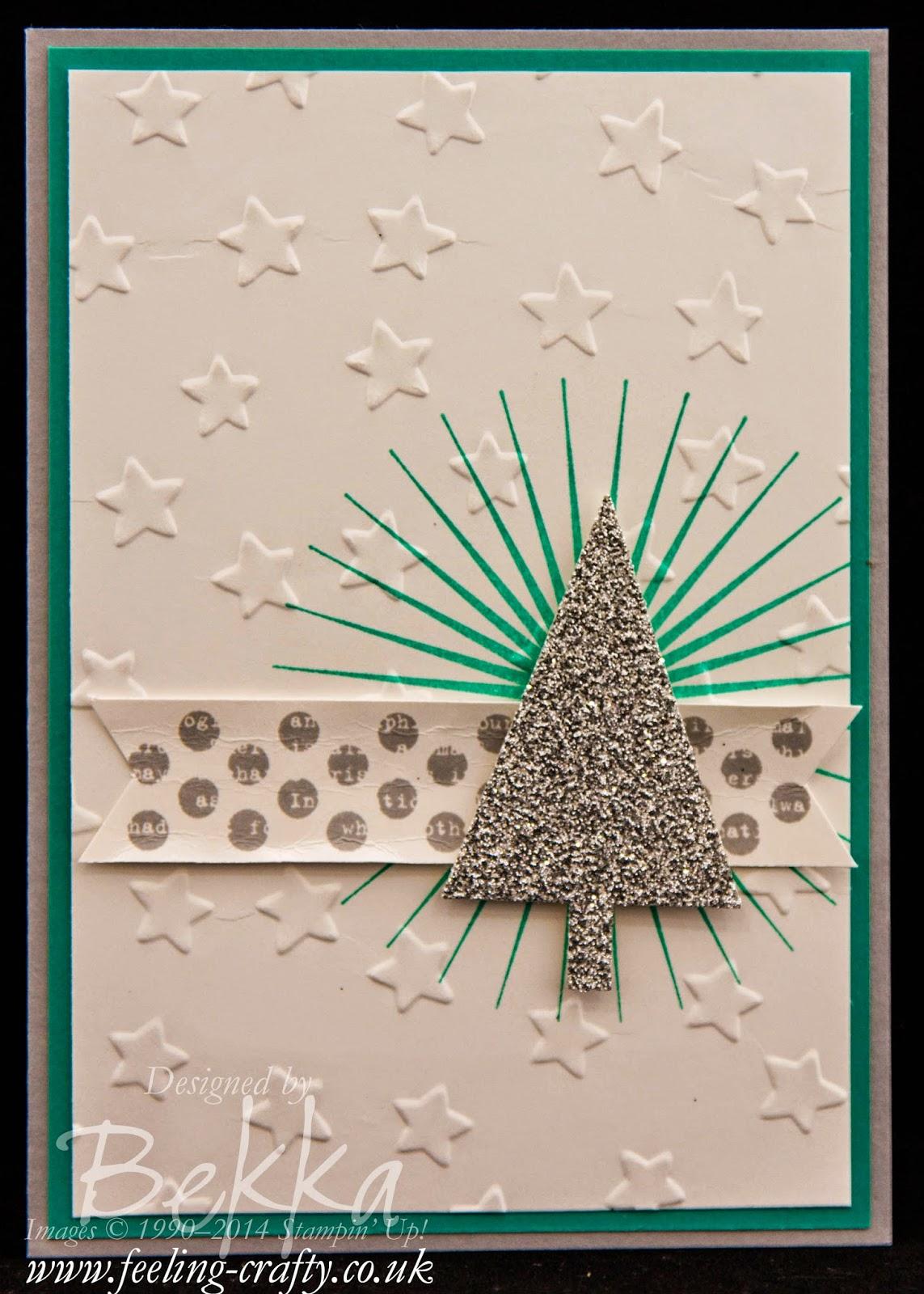 Kinda Eclectic Christmas Card by Stampin' Up! UK Independent Demonstrator Bekka - blog with lots of cute ideas!