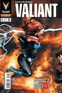Blooshot, editora HQM, Harbinger, histórias em quadrinhos, HQmaniacs, mutantes, super-heróis, Universo Valiant,