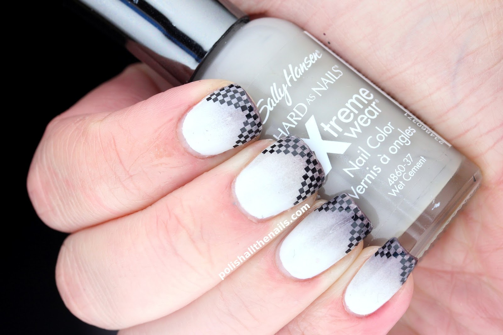 Nail Art: Checkered Fancy French Nails and Not a Rainbow in Sight!