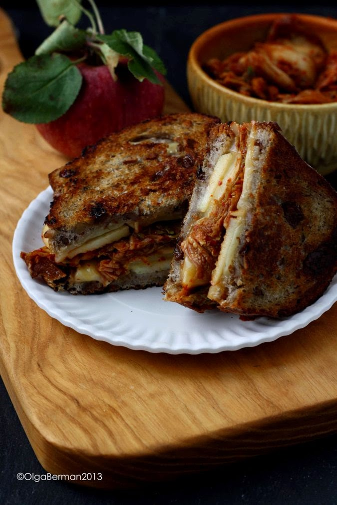 Mango & Tomato: Grilled Cheese Sandwich with Kimchi and Apples: You ...