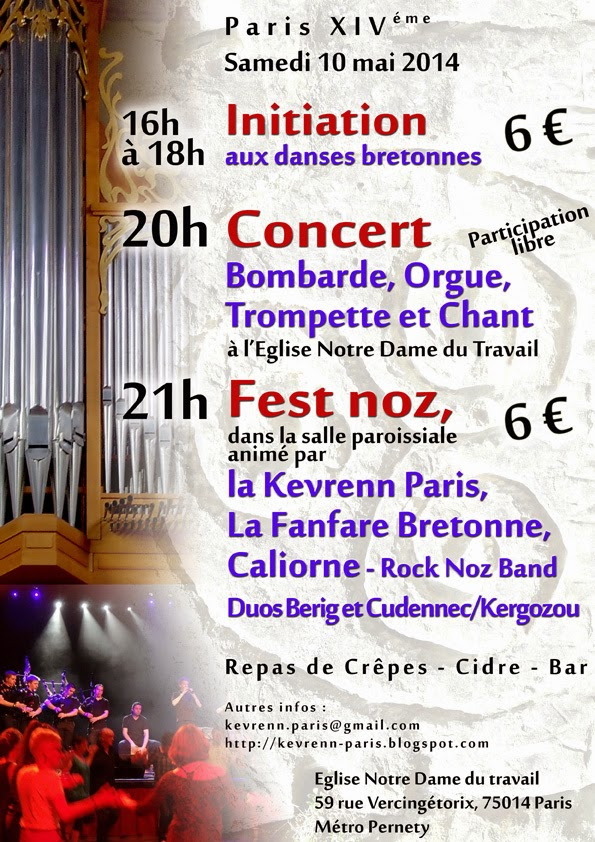 Concert Orgue & Bomabrde Paris