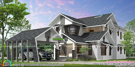 Ultra modern home in Kerala, India