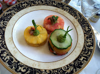 VeegMama's plate of vegan tea sandwiches at the Langham Huntington Pasadena
