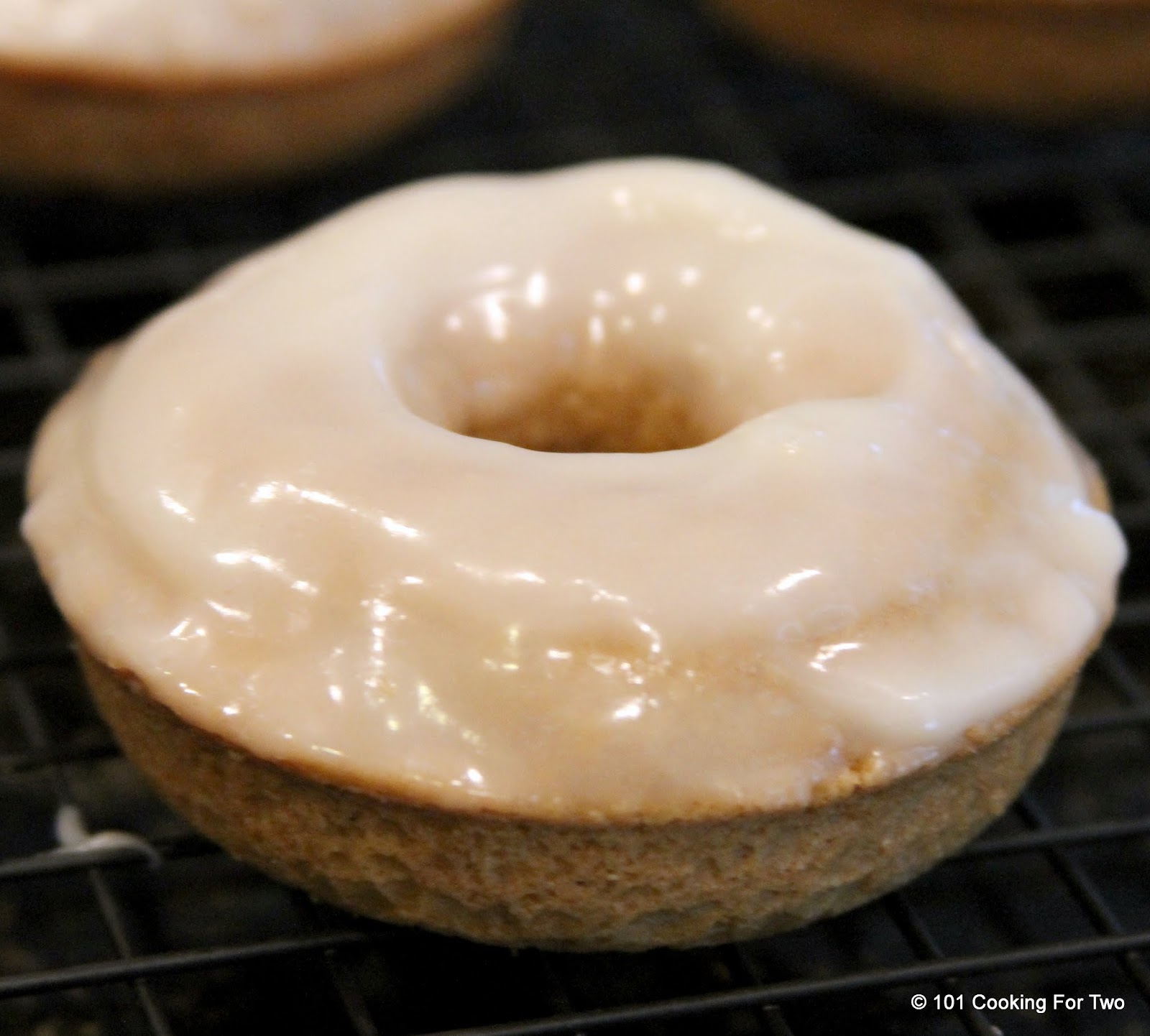 Cinnamon Roll Doughnut with Cream Cheese Frosting