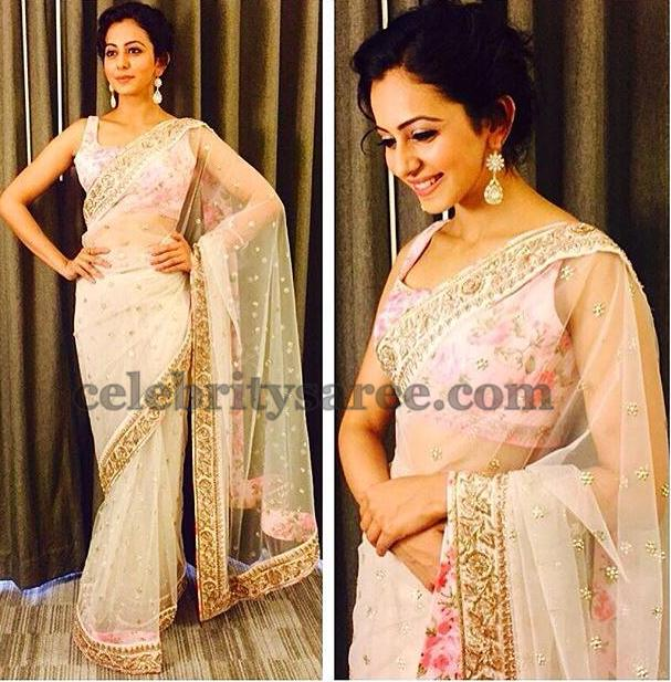 Rakul Preet Singh Transparent Saree