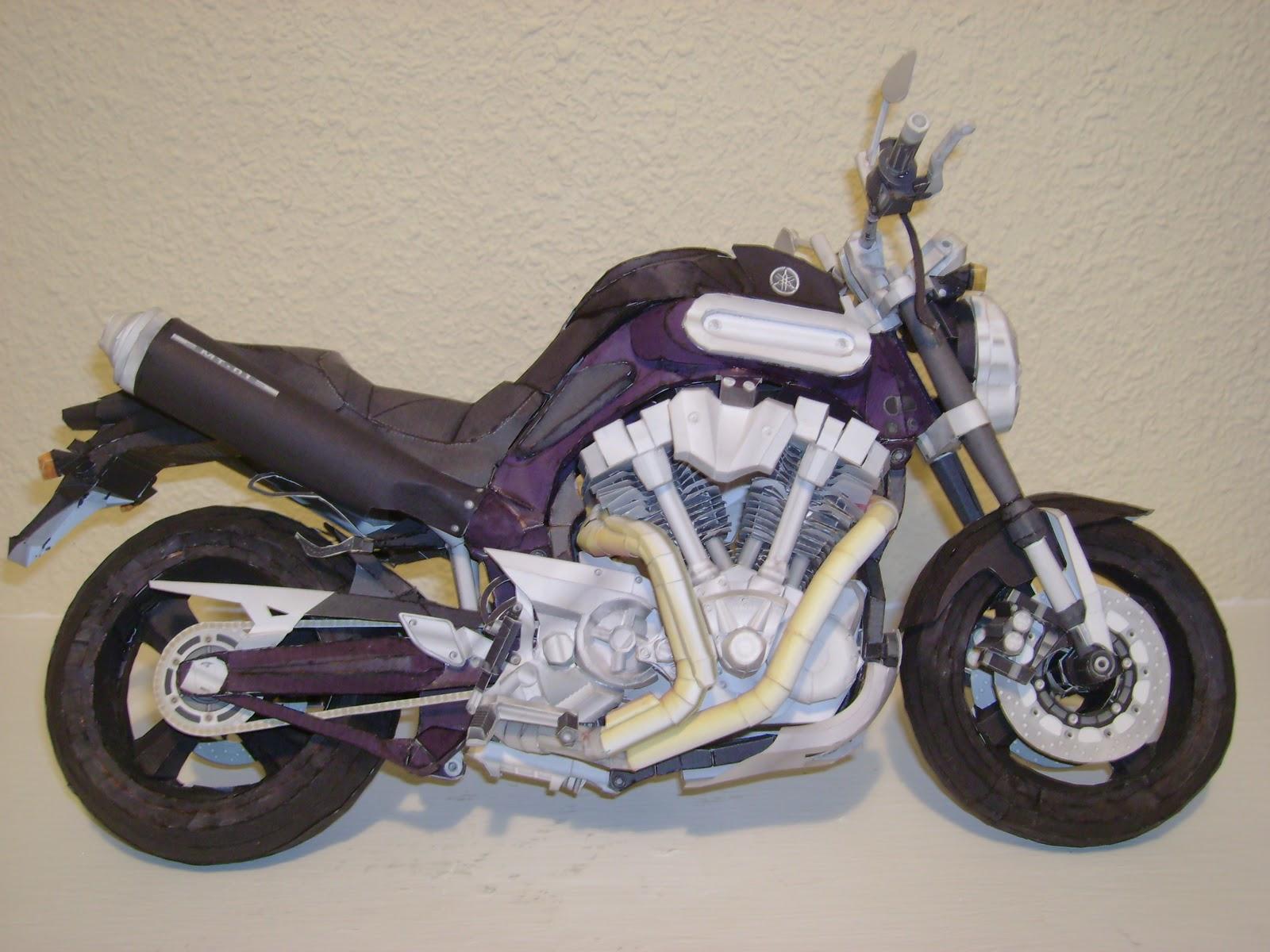 Ossorio Papercraft: Yamaha MT1 Terminada