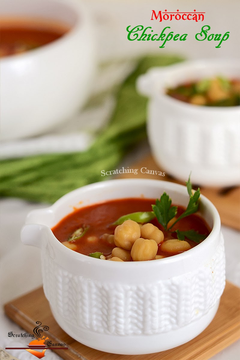 ... healthy weekend with therecipe of Skinny Moroccan Chickpea Soup