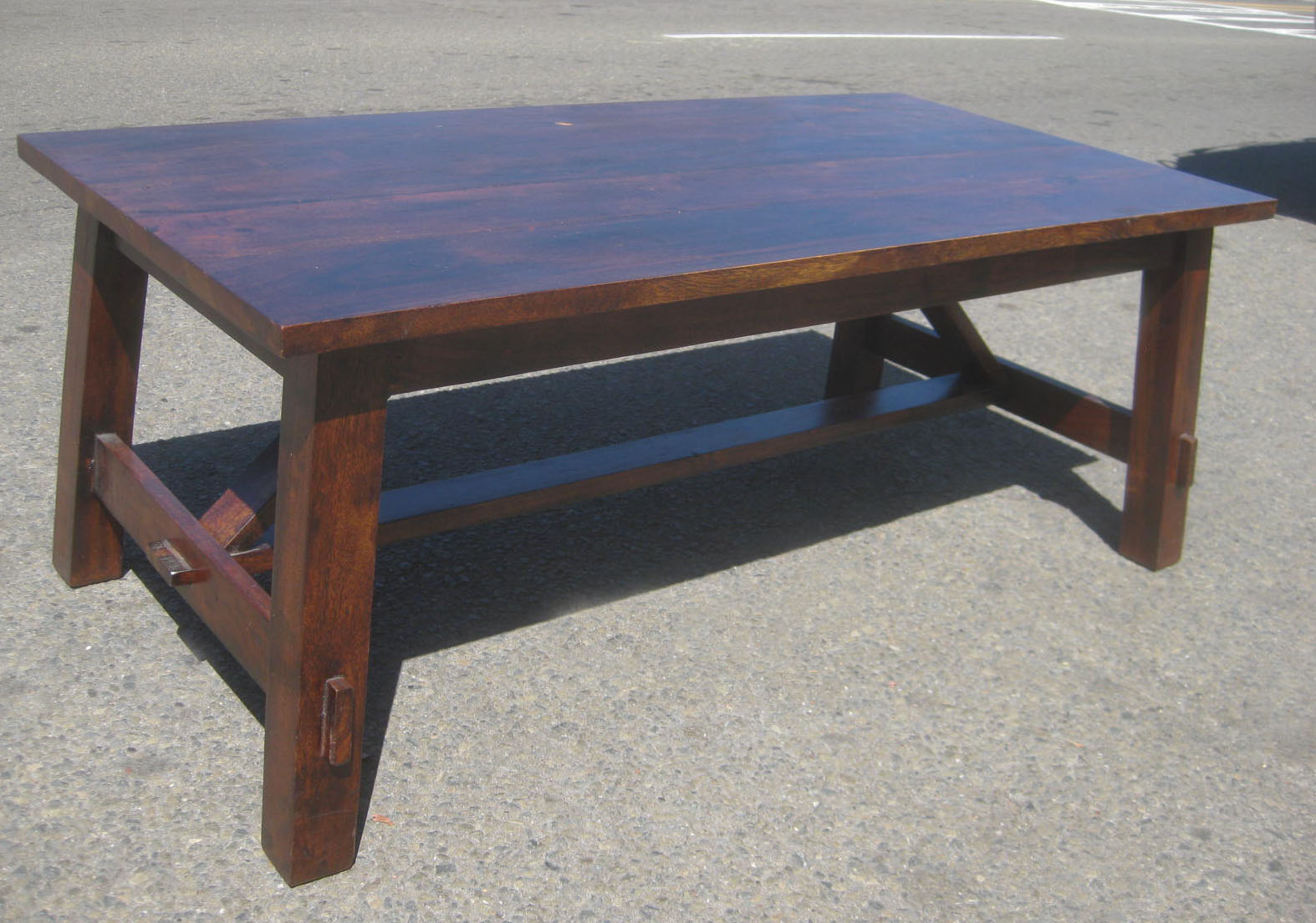 Uhuru Furniture Collectibles Sold Solid Teak Coffee Table 70