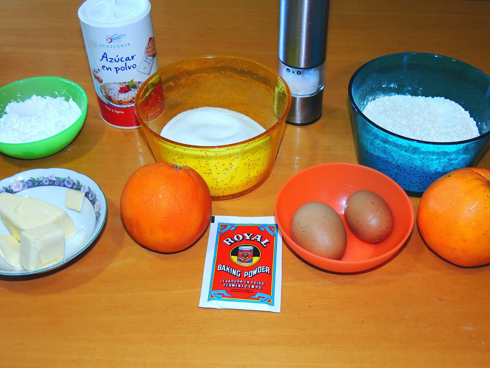 ingredientes para queque de naranja
