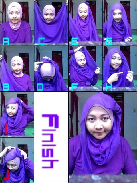 Cara memakai hijab paris segi empat yang menarik