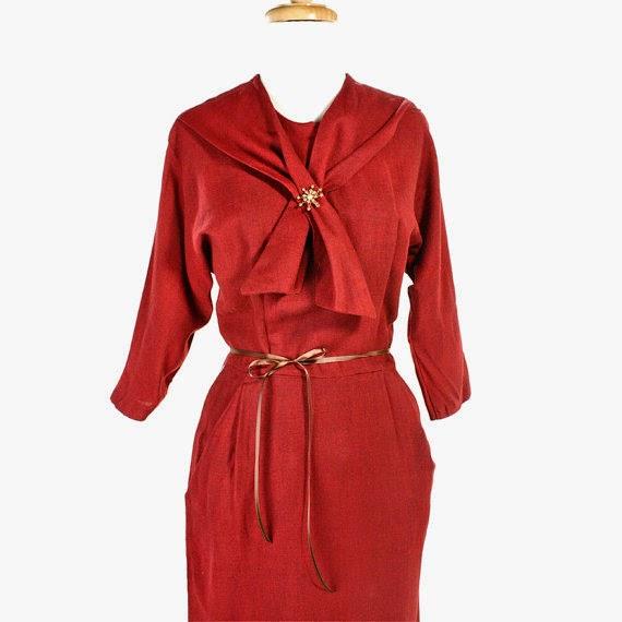 Vintage Red Wiggle Dress